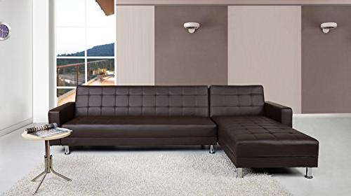 Gold Sparrow Convertible Sectional Brown