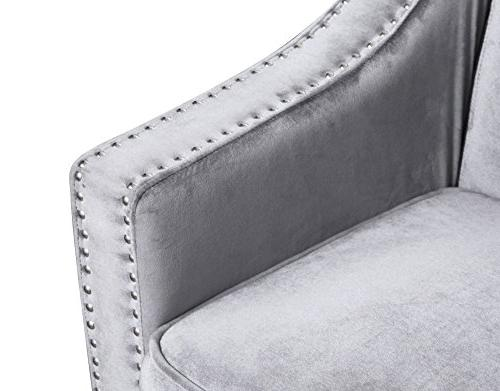 Iconic FSA9001-AN Sofa Upholstered Swoop Arm Espresso Finished Wood Couch Modern Contemporary,