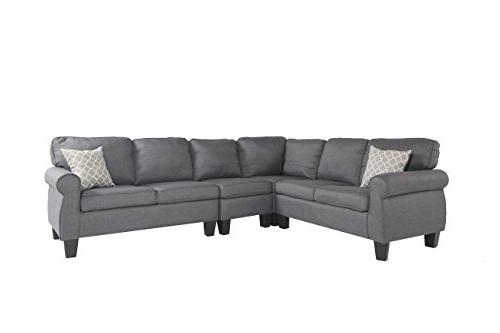 Oliver Sectional Sofa, Grey