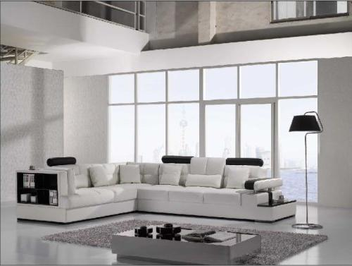 furniture t117 modern white leather