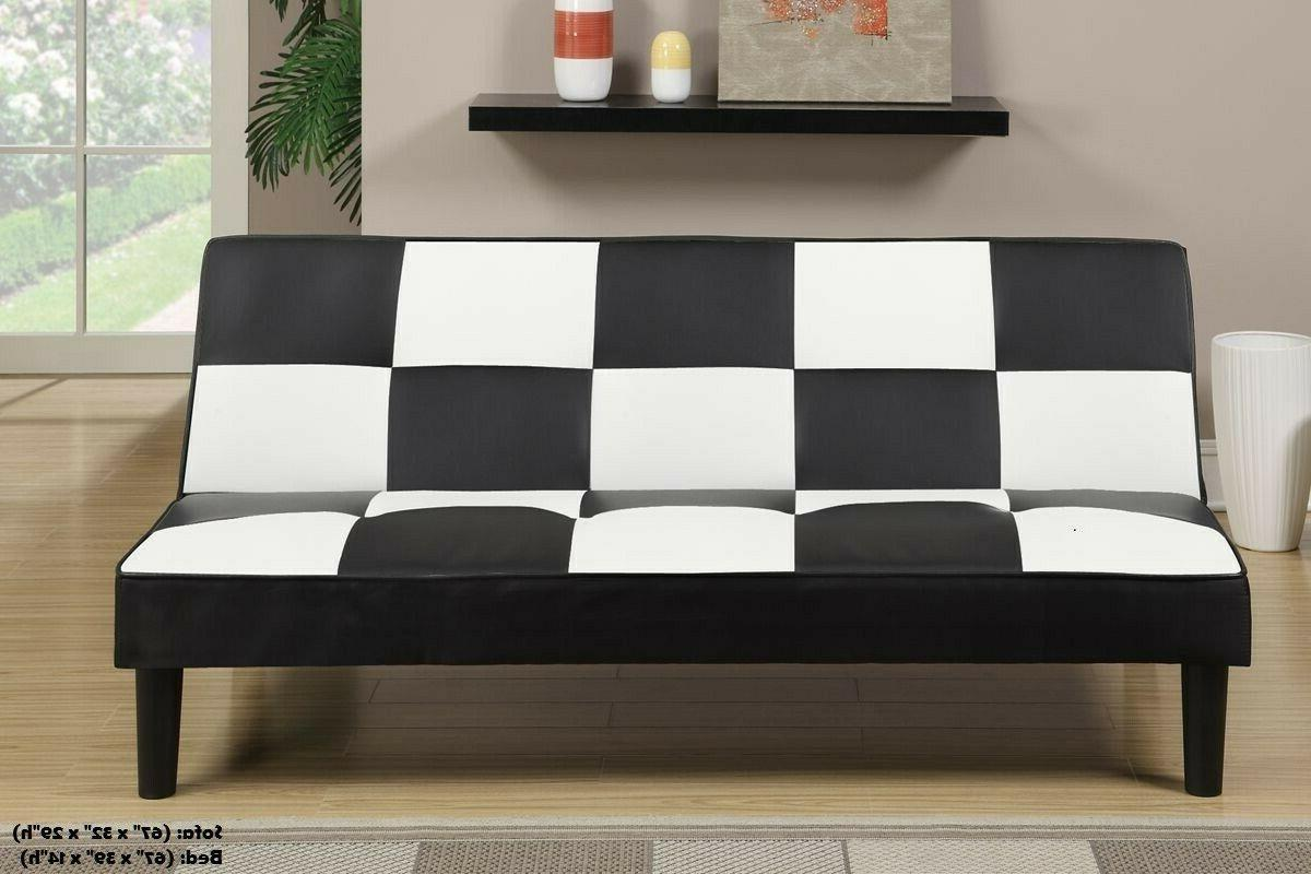 futon sofa bed couch black and white