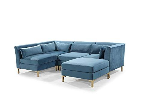 Iconic Chaise Metal Y-Leg with Throw Pillows, Teal