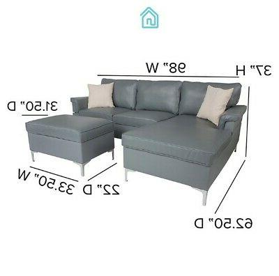 Gray Leather With Contemporary Room