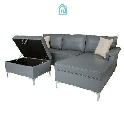 Gray Leather With Contemporary