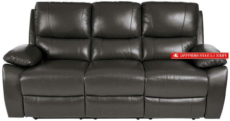 "Homelegance Sofa, 79"" Genuine Leather"