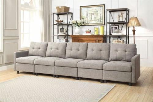 Grey L-Shape Chaise Set