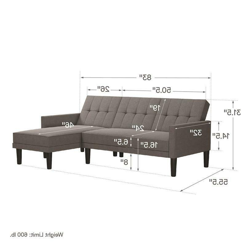 DHP Haven Sectional Light Grey