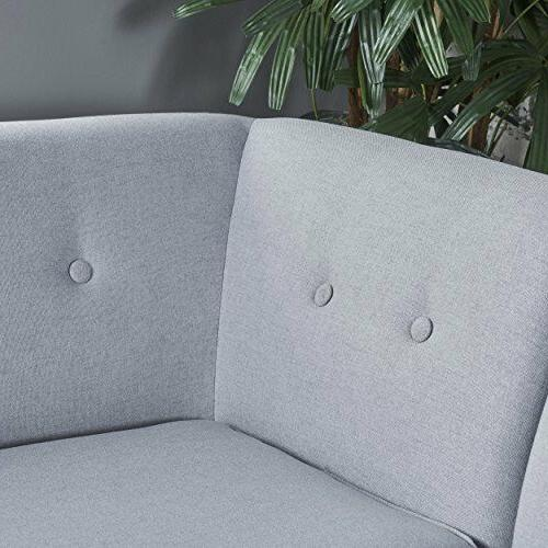 Home Corner Set Mid Modern Tufted Fabric Upholstery