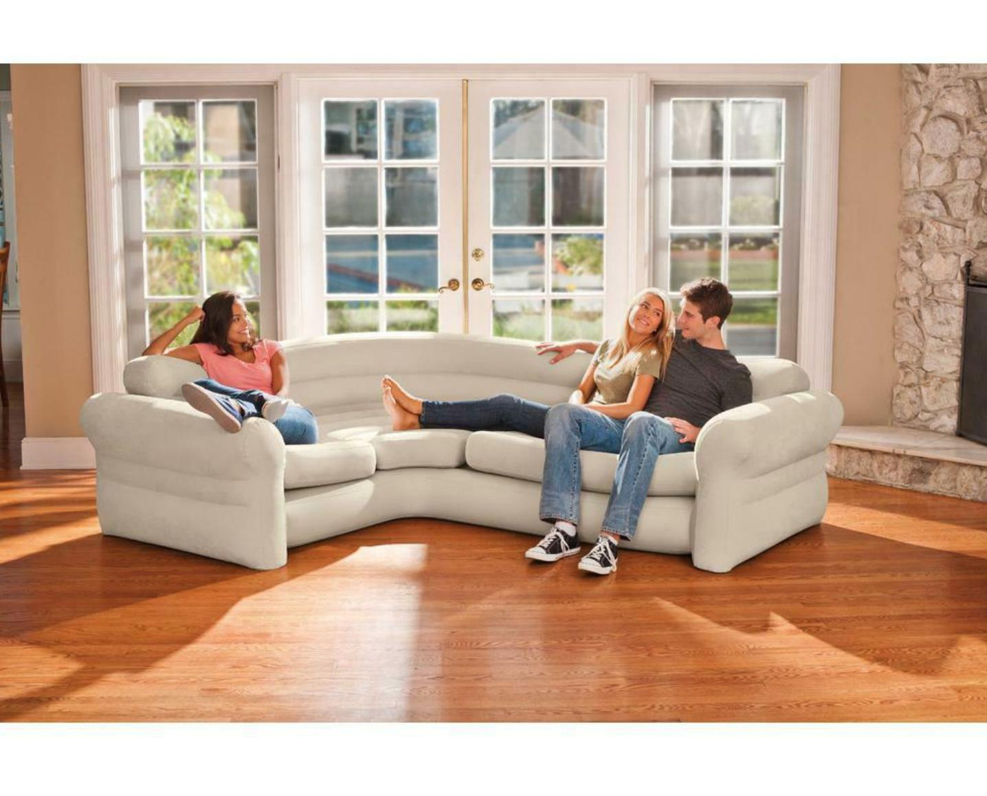 Inflatable Futon Couch Sofa Sleeper Room