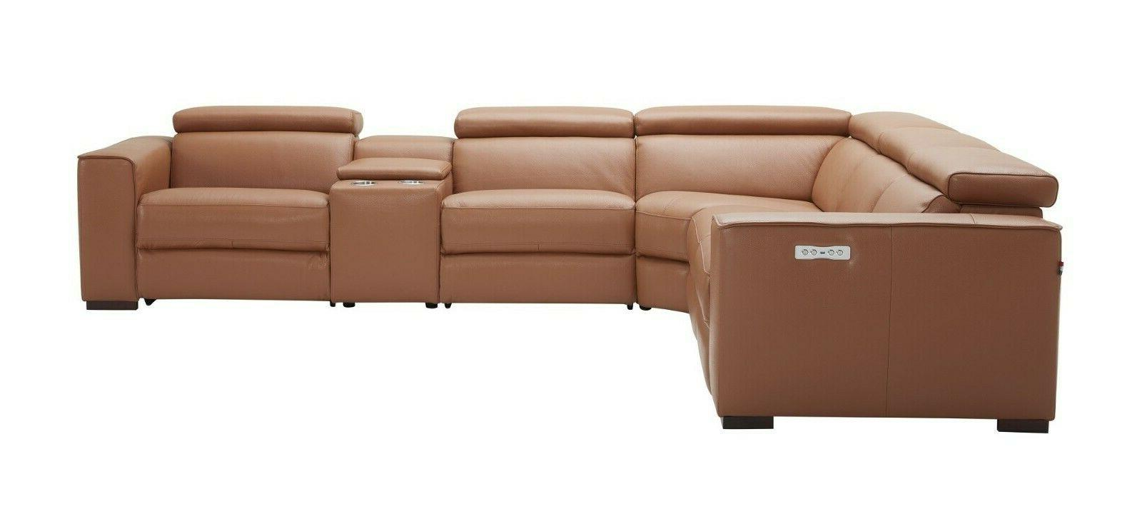 J&M Top Grain Leather Sectional