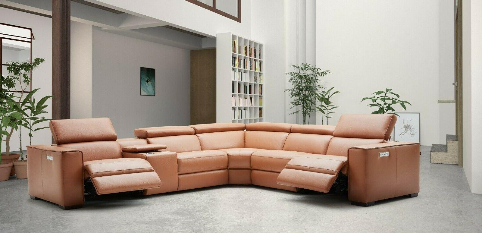 J&M Furniture Top Grain Leather Sectional Sofa, 6