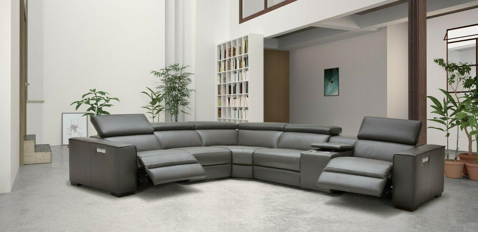 J&M Furniture Picasso Gray Top Motion Sectional Sofa Pieces