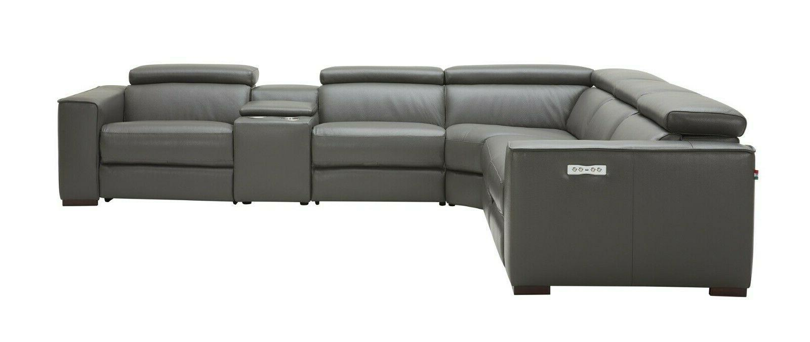 J&M Furniture Gray Grain Motion Sectional Pieces