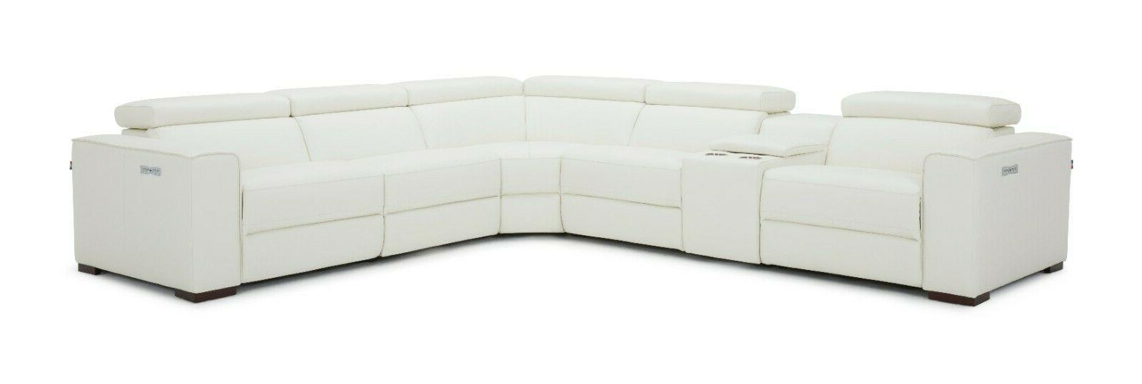 J&M Picasso White Top Grain Sectional