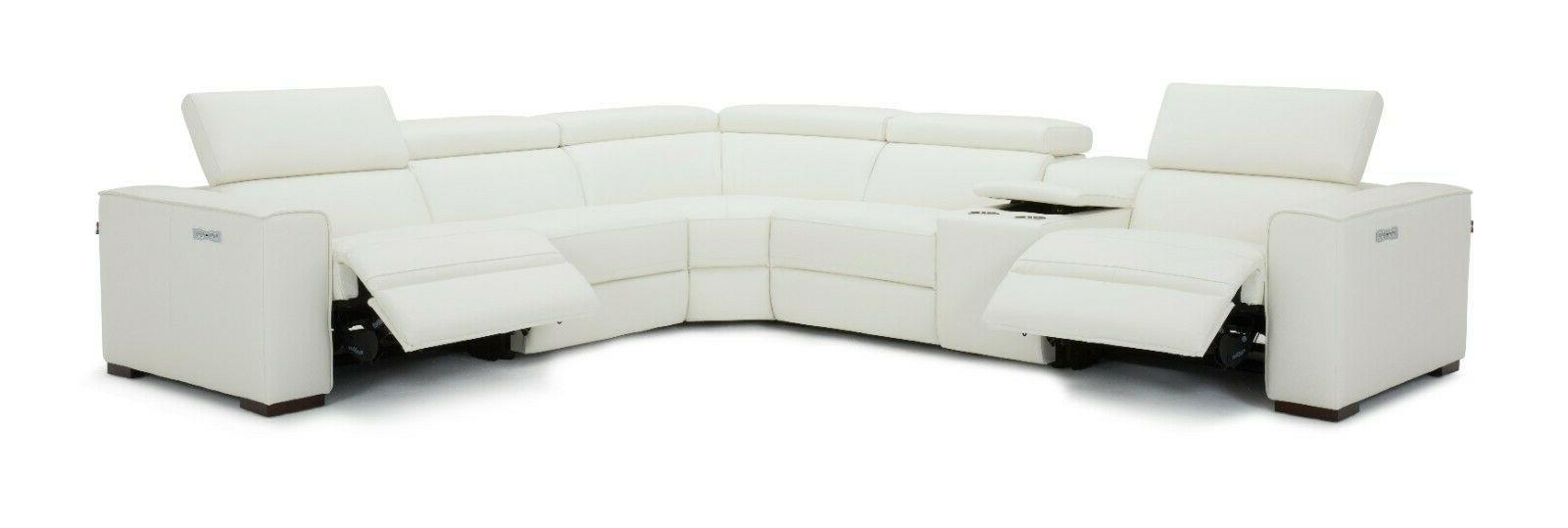 J&M Picasso Top Leather Sectional