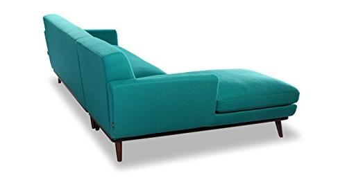 Kardiel Sectional Turquoise Cashmere Wool