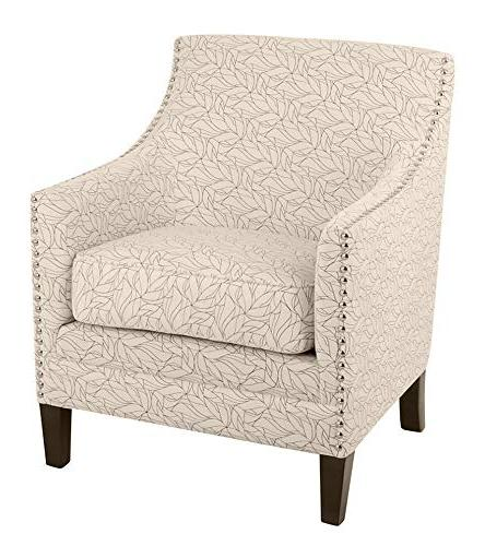 kaiden patterned nailhead accent chair