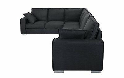 Large Fabric Sectional L-Shape Couch