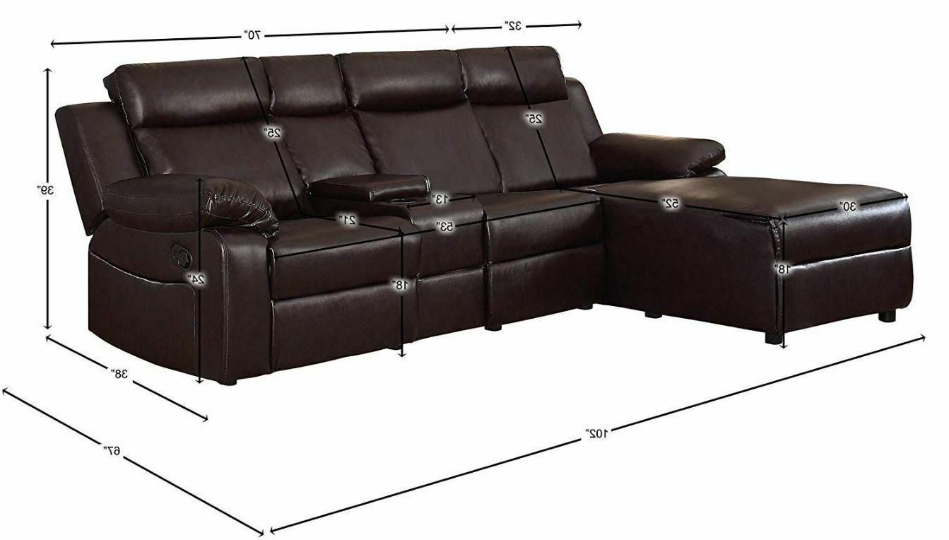 Large Reclining With Recliner Lounge Console