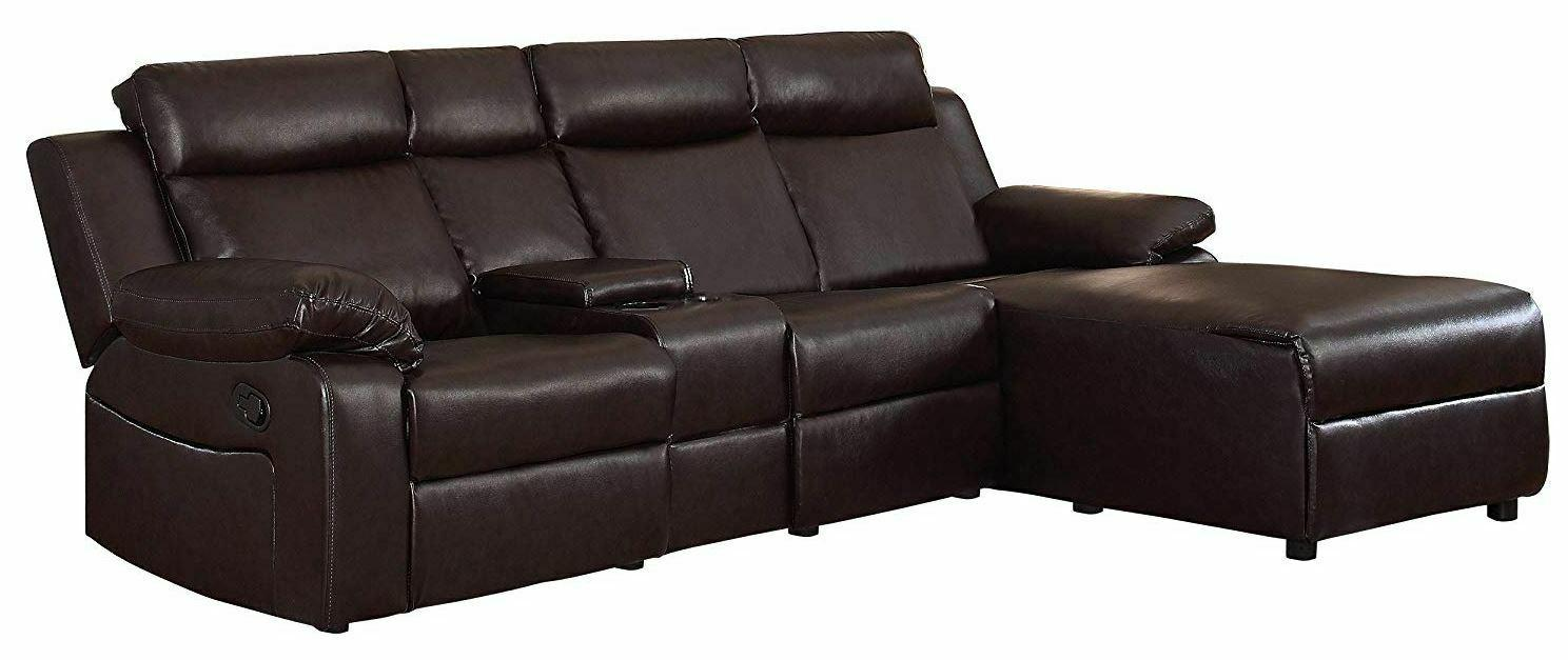 Large Sectional Sofa With Lounge Brown