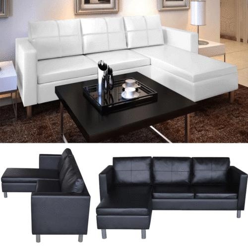 leather sectional sofa 3 seater l shaped