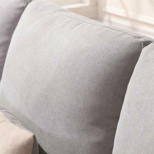 Linen Sectional Sofa Couch Sofa