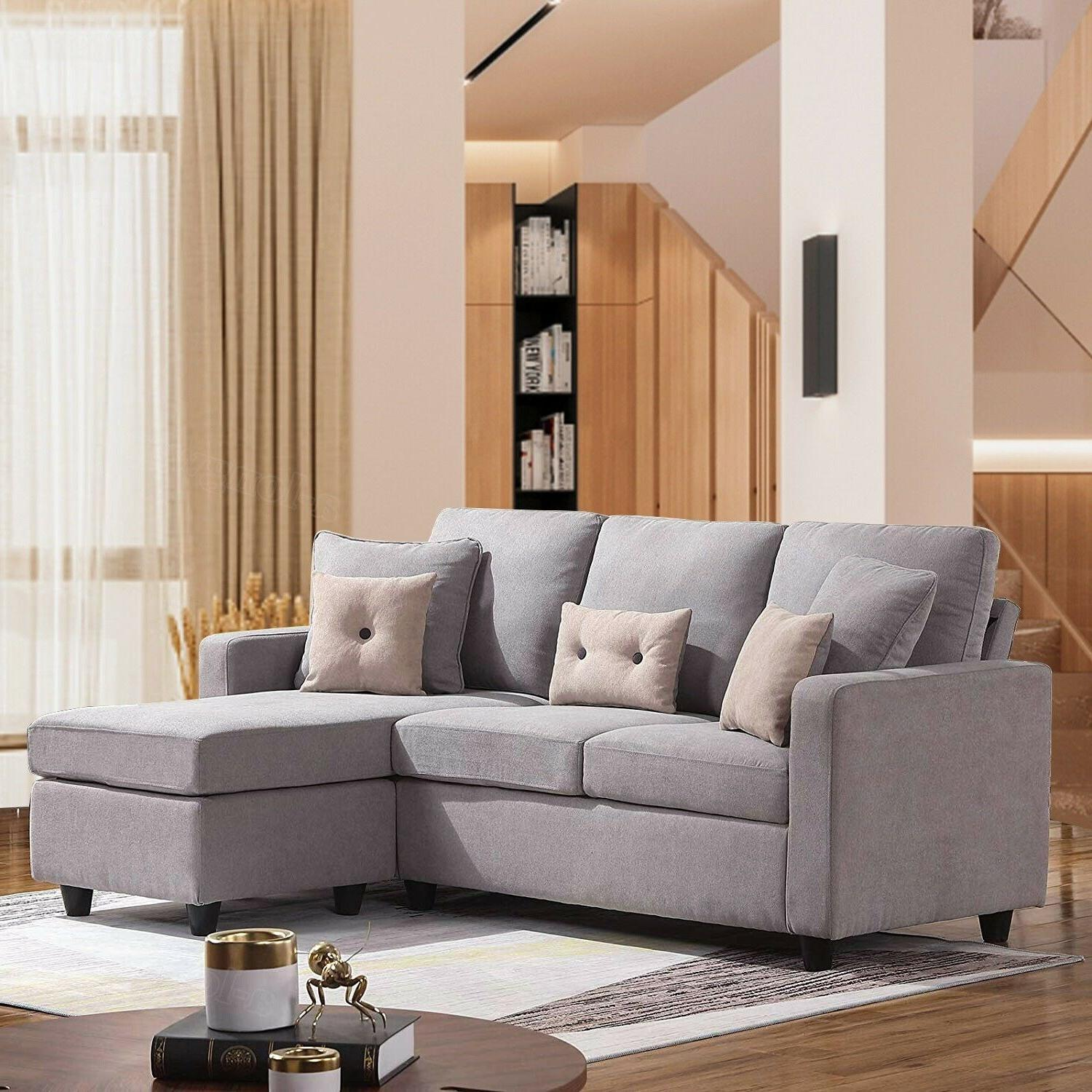 linen fabric sectional sofa l shaped couch