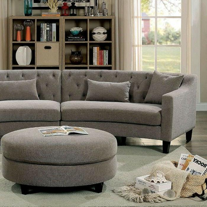 Living Room Unique Tufted Couch