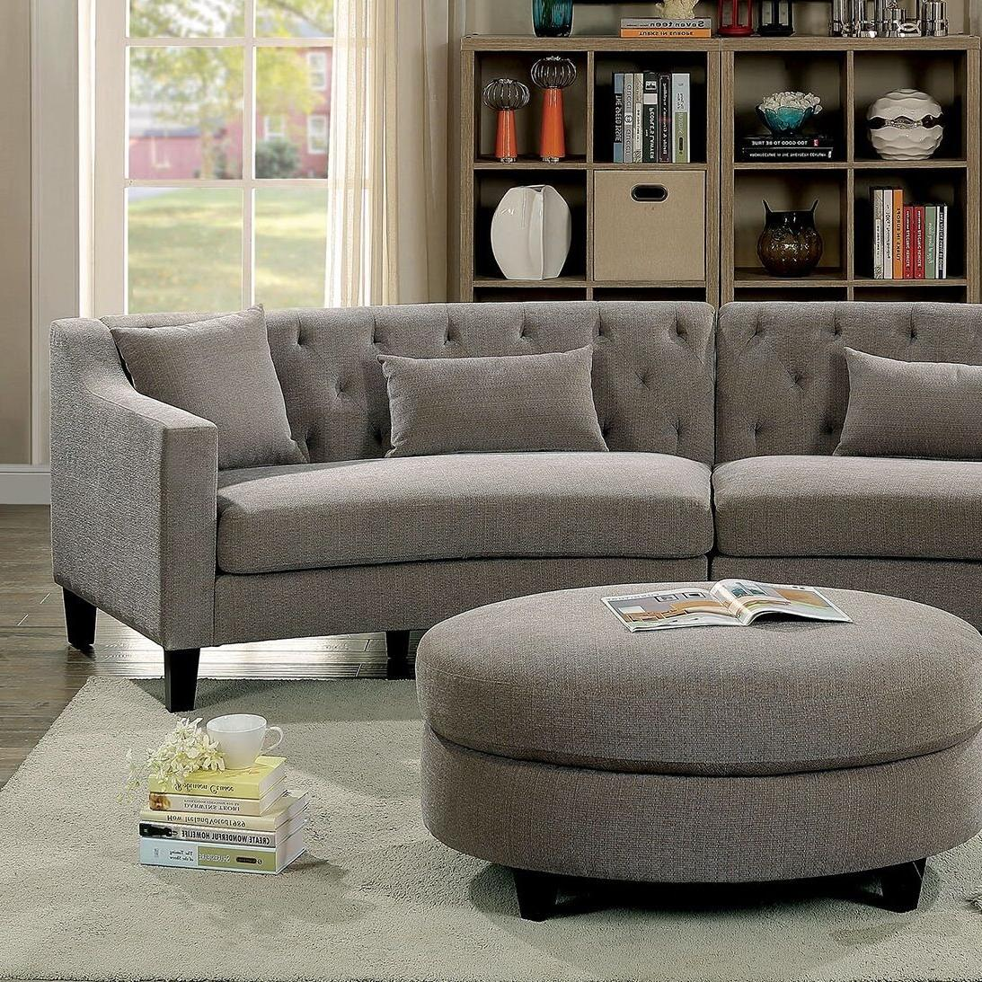 Living Room Unique Tufted Couch Wood