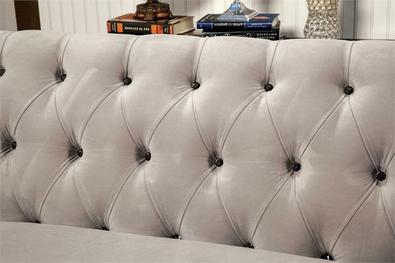 Traditional Gray Fabric Sectional Chaise Pillows