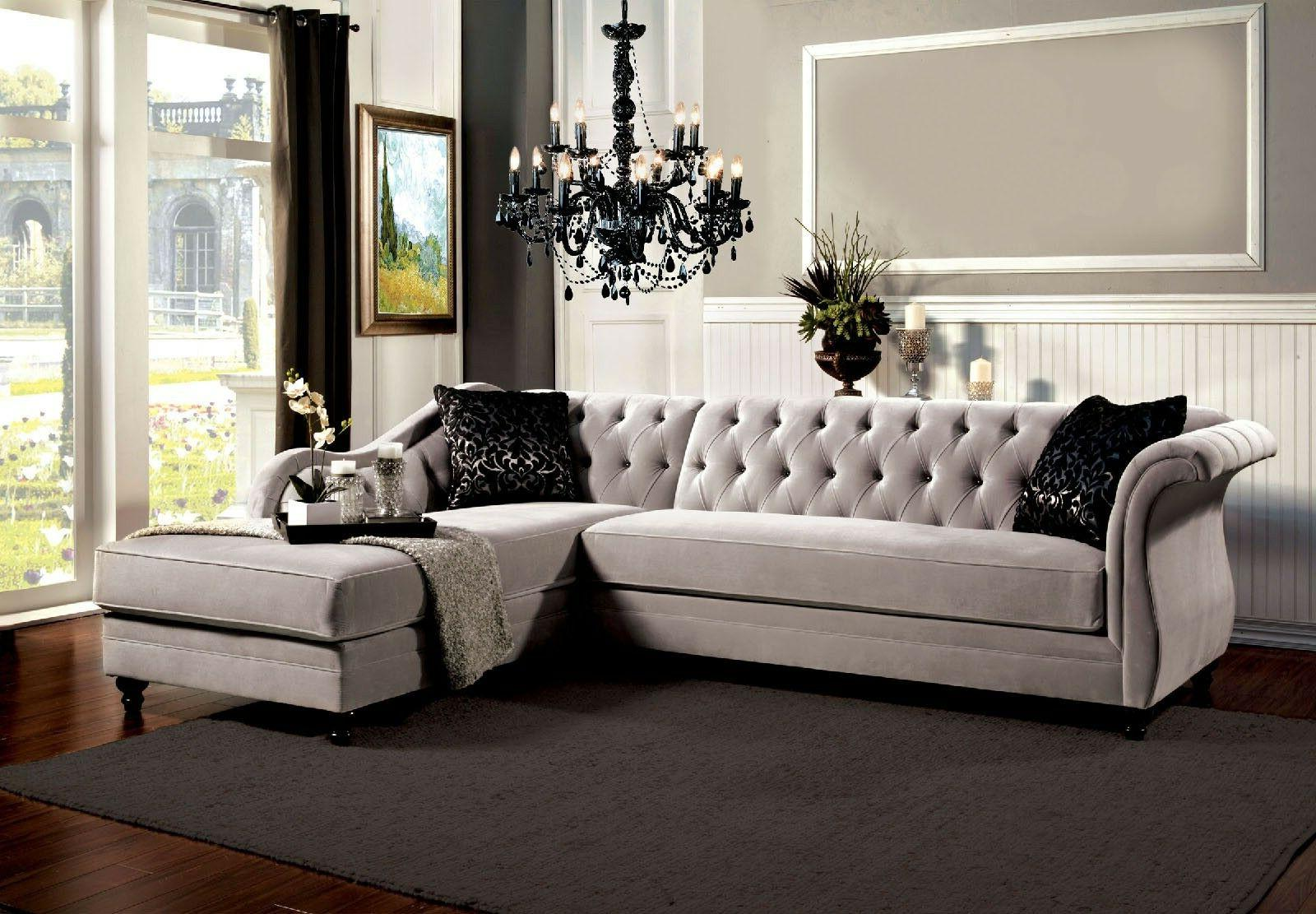 Traditional Warm Gray Chaise
