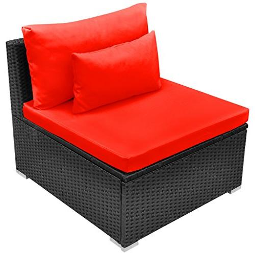Festnight Luxurious Patio Set Poly Rattan Garden Sectional Furniture Chaise