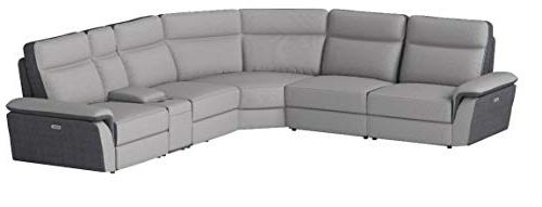 """Homelegance 162"""" Two Tone Fabric Power Sectional"""