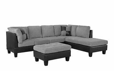 / Faux Leather Sectional