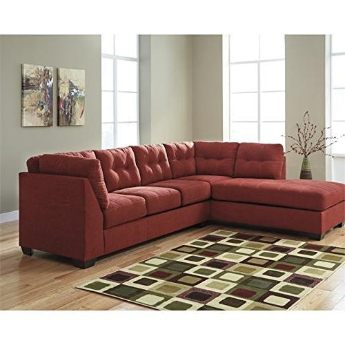 microfiber left facing sectional sienna