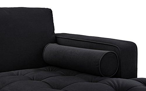 Divano Roma Modern Sofa, Couch Extra Chaise Lounge