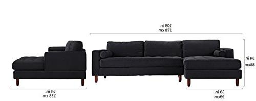 Divano Roma Mid-Century Modern Sofa, Couch with Extra Wide