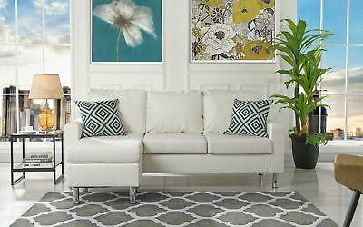 modern bonded leather sectional sofa small space