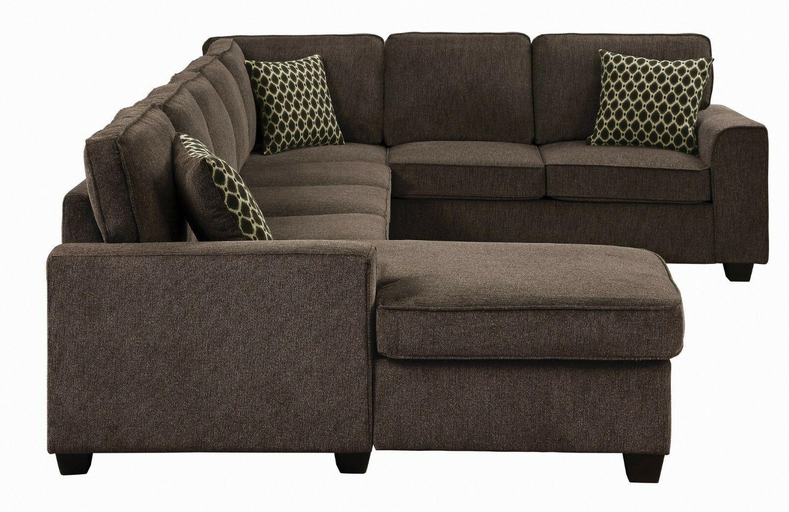 Transitional 7-Seater Fabric Sofa with Storage