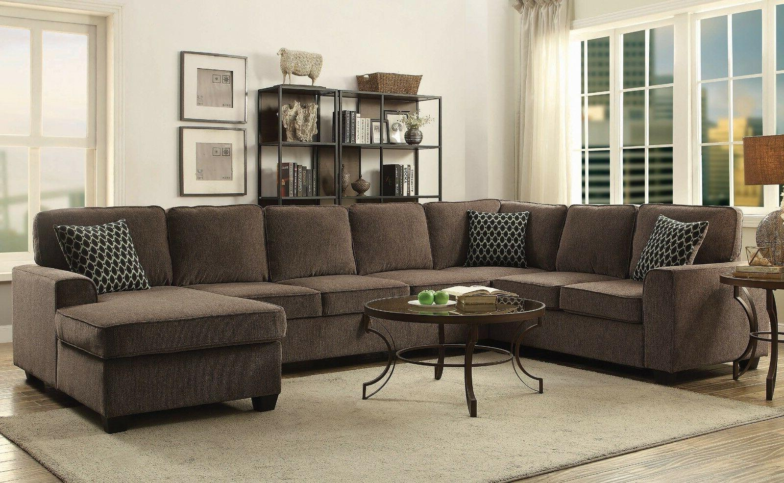 modern casual 3 piece sectional sofa