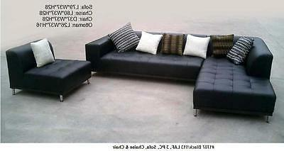 Modern contemporary Leather chaise #1707