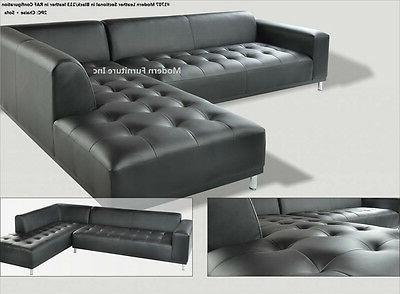 Modern design Leather Sectional Sofa chaise #1707