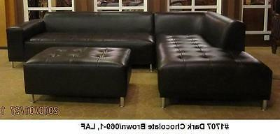Modern Leather Sectional chaise #1707