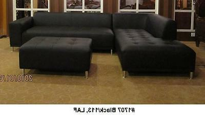 Modern contemporary Leather Sectional Sofa + chaise 2 PC set #1707