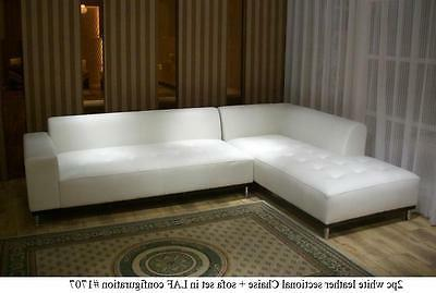 Modern Leather Sectional chaise set #1707