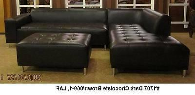Modern design Red Leather Sectional + + 3 set