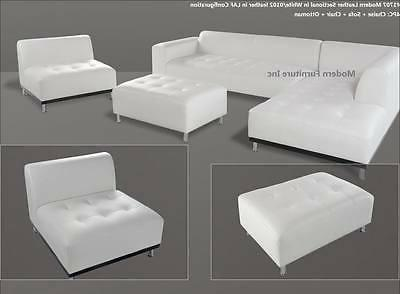 modern contemporary white leather sectional sofa chaise