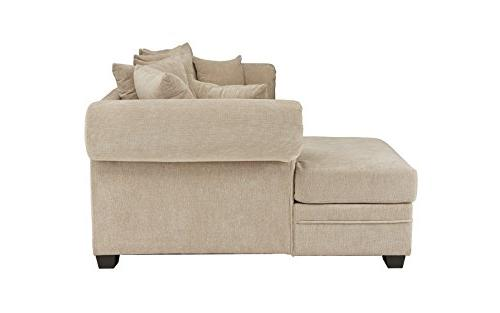 Modern Large Sofa, L-Shape Couch with Extra Wide Chaise Lounge