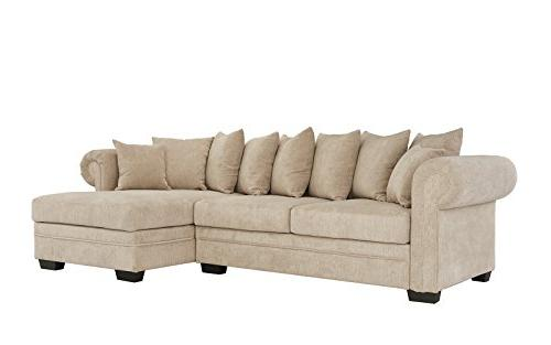 Modern Sofa, L-Shape Couch Extra Chaise Lounge