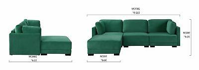 Modern Fabric Sectional Reversible